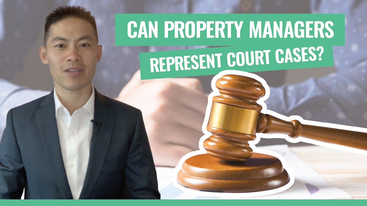 can property managers represent court cases_